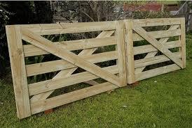 Treated Pine 5 Rail Single Cross Brace Tdp 4 Wooden Farm Gate Company