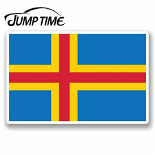 Jump Time For Aland Aland Finland Flag Vinyl Sticker Laptop Car Luggage Travel Car Assessoires Decals Vinyl Car Wrap Diy Car Stickers Aliexpress