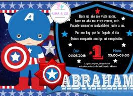 Capitan America Invitaciones De Cumpleanos Logddwall