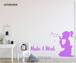 Joyreside Make A Wish Wall Decal Vinyl Sticker Home Decor Wall Kids Girls Children Bedroom Wall Decal Interior Design Mural A563 Wall Stickers Aliexpress