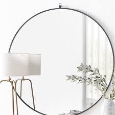 yedinak modern distressed accent mirror
