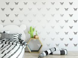 60 Silver 6cm 2 75 Inch Butterflies Shapes Wall Art Stickers Decals Ramutes On Artfire
