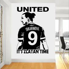 Zlatan Ibrahimovic Football Star Wall Art 3d Poster Soccer Wall Stickers For Kids Room Boy Bedroom Wallpaper Mural M297 Sale Up To 70 Stickersmegastore Com