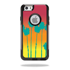 Mightyskins Protective Vinyl Skin Decal For Otterbox Commuter Iphone 6 Plus 6s Plus Case Wrap Cover Sticker Skins Sherbet Palms Walmart Com Walmart Com