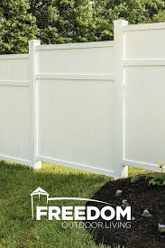 Brighton 6x6 Vinyl Privacy Fence Panel Vinyl Fence Freedom Outdoor Living For Lowes Vinyl Fence Vinyl Privacy Fence White Vinyl Fence