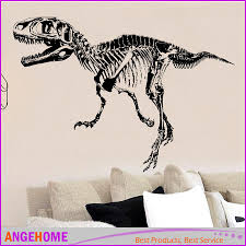 T Rex Skeleton Dinosaurs Wall Art Sticker Wall Decal Stick Diy Home Decoration Wall Mural Removable Sticker Tyrannosaurus Rex Wall Graphic Decals Wall Graphic Vinyl From Angehome 1 82 Dhgate Com
