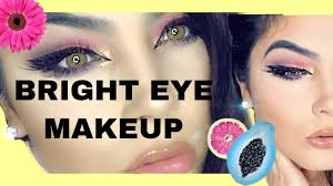 eye makeup colourful bright