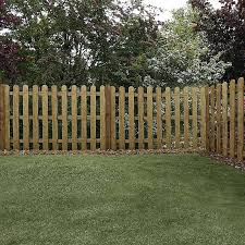 4ft X 6ft Pressure Treated Round Top Picket Fence Panel Waltons