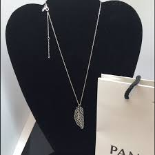 pandora feather necklace and chain