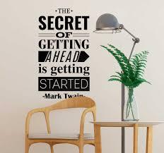 Mark Twain Getting Ahead Wall Text Sticker Tenstickers
