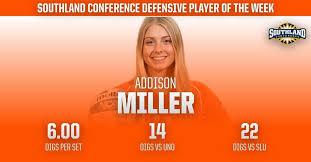 Congratulations to Addie Miller on being... - Sam Houston State ...