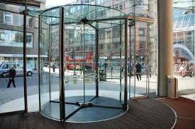 full glass revolving door bauporte