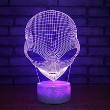 Gbbcd Night Light Aliens Colorful 3d Small Night Lights Led Decorative Lights Kids Room Kids Lights Lamps Gift For Baby Room 3d Lamp Amazon Com