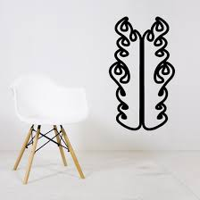 Twin Two 2 Thick Ghost Flames Car Decal Vinyl Decal Wall Decal Cf613
