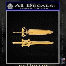 He Man Power Sword Decal Sticker 2pk A1 Decals