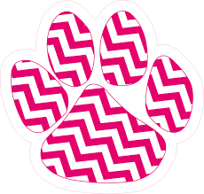 4 75in X 5in Pink Chevron Paw Print Bumper Sticker Vinyl Car Window Decal Stickertalk
