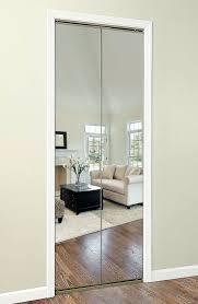 bi fold mirrored closet door mirror