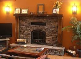 rustic timber fireplace mantels