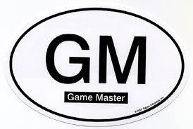 Game Master Euro Oval Car Decal Arkham Bazaar
