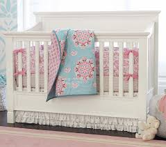 pink brooklyn crib bedding set