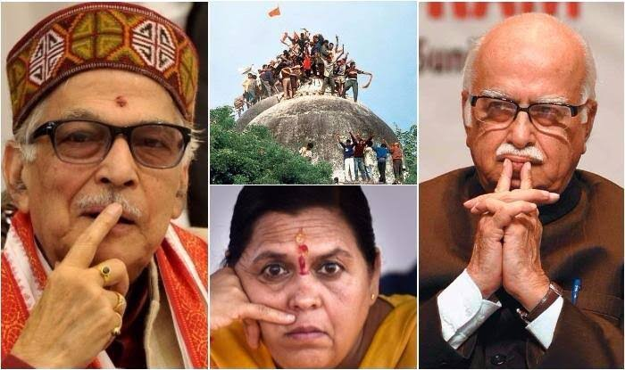 "Image result for Ram Mandir movement lk advani"""