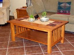 craftsman style coffee table done