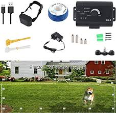 Amazon Com Hxz Invisible Wire Enclosure System Safe And Effective Beep And Electric Shock Dog Fence Waterproof And Rechargeable Collar Receiver Hidden Wiring Home Kitchen