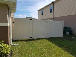 6 Ft Tan Vinyl Fence With A 11 Ft Double A Y P Fence And Repair Llc Facebook