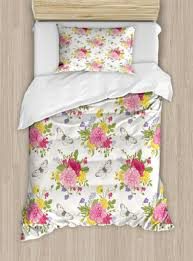 shabby chic duvet cover set with pillow