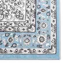 arend oriental light blue area rug