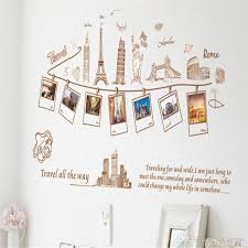 Global Travel Europe And America Wall Stickers Living Room Tv Background Wall Decorative Painting Pvc Stickers Cheap Vinyl Wall Decals Cheap Wall Art Decals From Cn Home 33 82 Dhgate Com