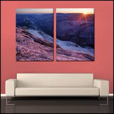 Last Sun On Yosemite 2 Piece Fine Art Gallery Wrapped Canvas Wall Mu Epicwallart Com