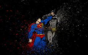 تحميل خلفيات سوبرمان باتمان 4k معركة الأبطال الخارقين Dc