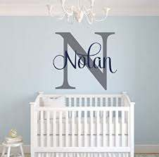 Amazon Com Custom Name Monogram Wall Decal Nursery Wall Decals Name Wall Decor Baby