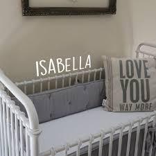 Vinyl Wall Art Decal Girls Custom Name Isabella Custom Text Name Imprinted Designs