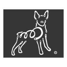 K Line Rat Terrier Dog Car Window Decal Tattoo Doggy Style Gifts