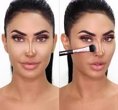 contour makeup make nose look smaller
