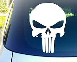 Amazon Com Punisher Skull 11 Die Cut Vinyl Car Decal Sticker For Car Window Automobile Window Car Bumper Truck Laptop Ipad Notebook Computer Tablet Decal Skateboard Motorcycle Automotive