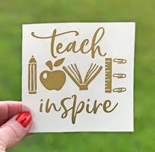 Vinyl Decals For Cups Teacher Appreciation Gift Teacher Etsy