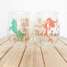 Vinyl Decal For Wine Glasses Wine Glass Set I M A Mermaid Unicorn Wine Glass Funny Equalmarriagefl Vinyl From Vinyl Decal For Wine Glasses Pictures