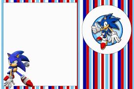 Sonic Invitaciones Para Imprimir Gratis Invitaciones Para