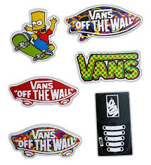 Vans Off The Wall Skateboard Stickers Set Of 6 Stickers Vans Stickers Skateboard Stickers Vans Off The Wall