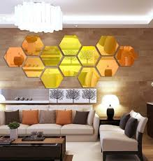 Best Top 10 Hexagon Mirror Wall Stickers List And Get Free Shipping A337