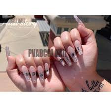 1815049306 Nail Art 3d Decal Stickers Alphabet Letters White Black Gold Acrylic Nails Tool Beauty Health Nail Art Tools