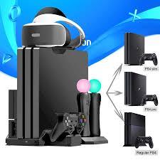PS4 Pro Slim /PS VR Di Chuyển Đa Chức Năng Làm Mát Đứng & Điều Khiển Đế Sạc  Cho Máy Chơi Game Playstation 4 & PSMove|