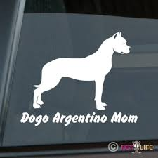 1411439813 Dogo Argentino Mom Sticker Die Cut Vinyl Window Decal 15x12cm Toys Hobbies Classic Toys