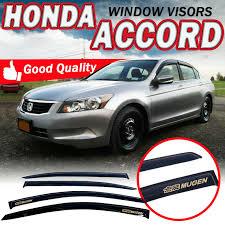 For 08 12 Honda Accord Coupe 2dr Acrylic Smoke Slim Style Window Visors W Mugen