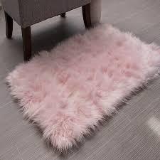 soft faux fur sheepskin silky rug
