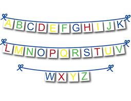 Printable Alphabet Banner Diy Nursery Decor And Classroom Decoration Celebrating Together