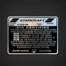 1973 Starcraft 14 Superstar Boat Capacity Decal Garzonstudio Com